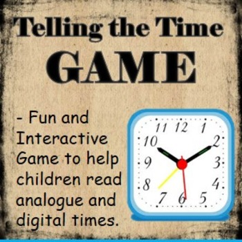 Maths Game- Telling the Time Game