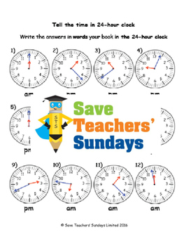 Telling the time in words lesson plans, worksheets and more