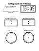Telling time to the 5 minutes