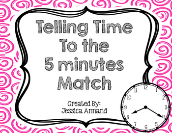 Telling time to the Five 5 minutes Match