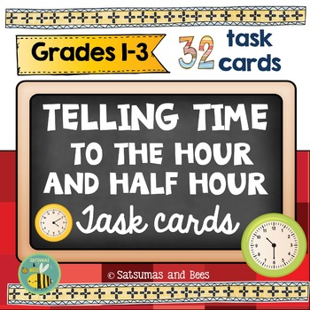 Telling time to the hour and half hour (Common core: 1.MD.B.3)