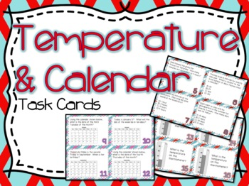Temperature & Calendar Task Cards