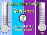 Temperature Rocks!!! Master Thermometer Math Center 2nd Grade