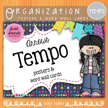 Tempo Posters and Word Wall Cards {Arrows}