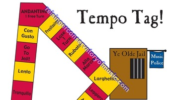 Tempo Tag! music terms, note names