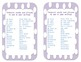 Temporal Words & Phrases Poster with writing folder insert
