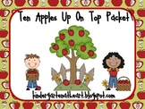 Ten Apples Up On Top Language Art and Math Packet