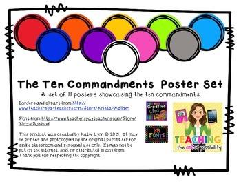 Ten Commandments Poster Set