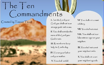 Ten Commandments SMARTBoard Activities