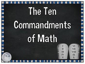Ten Commandments of Math Posters