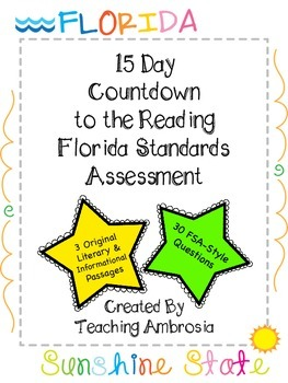 15 Day Countdown to the Reading FSA (Florida Standards Ass