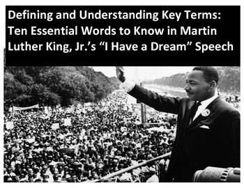 """Ten Essential Words to Know in Martin Luther King, Jr.'s """""""