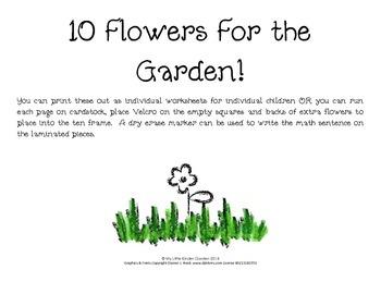 Ten Flowers in the Garden-Kindergarten Making 10 on a Ten