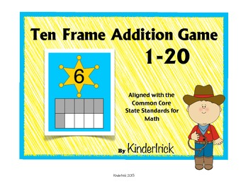 Ten Frame Addition Game- Howdy Partner!