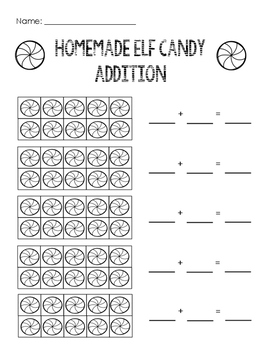 Ten Frame Addition: Homemade Elf Candy