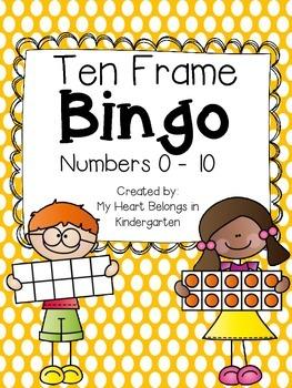 Ten Frame BINGO {Numbers 0 to 10}