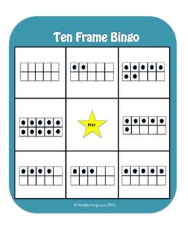 Ten Frame Bingo- Number 1-10