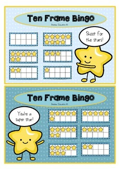 Ten Frame Bingo - Set of 12 Cards