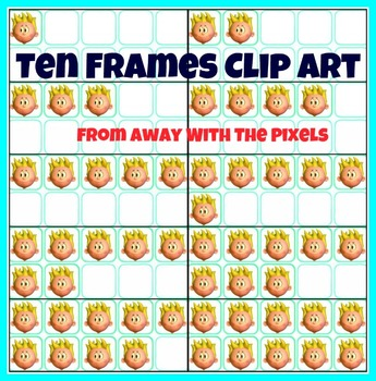 Ten Frame Clip Art -  Frames from 0 - 10, 11 Different Characters