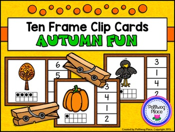Ten Frame Clip Cards: Autumn Fun (Numbers 1-20)