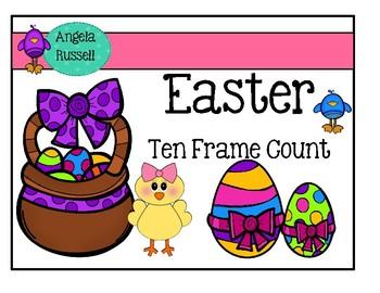 Ten Frame Count ~ Easter