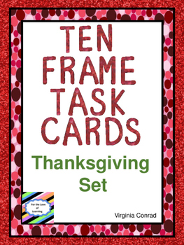 Ten Frame Counting:  Thanksgiving Set