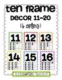 Ten Frame Decor 11-20 {6 polka dot colors}
