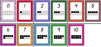 Ten Frame Display Cards
