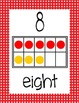 Ten Frame Display Posters #0-20 - RED Polka Dots