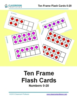 Ten Frame Flash Cards 0-20 (two different layouts)