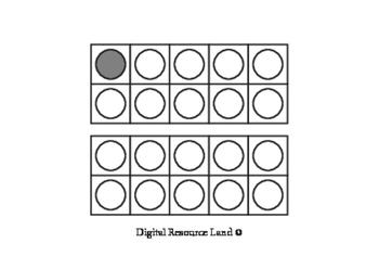 Ten Frame Flash Cards A6