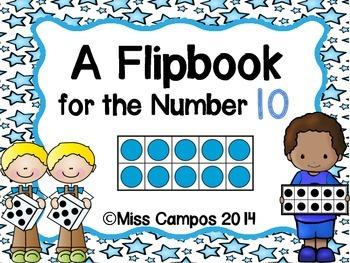 Ten Frame Flipbook Freebie - Number Sense