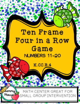 Ten Frame Four-In-A-Row Game (Numbers 11-20)