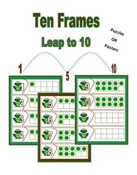 Ten Frame - Frog Themed
