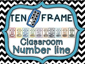 Ten Frame Large Numberline Cards