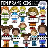 Ten Frame Math Kids Clip Art Whimsy Workshop Teaching