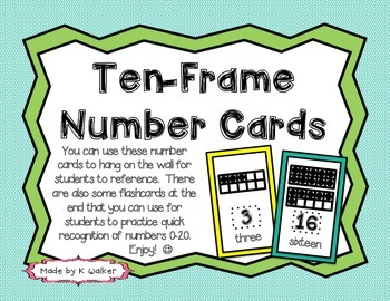 Ten-Frame Number Cards