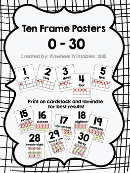 Ten Frame Number Posters {0 - 30}