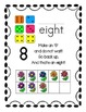 Ten Frame Number Posters Colorful Funky Flowers