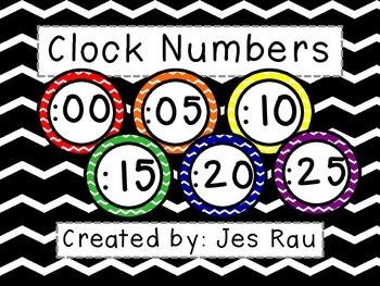 Primary Chevron Clock Numbers