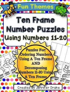 Ten Frame Number Puzzles!  Ordering & Decomposing Numbers