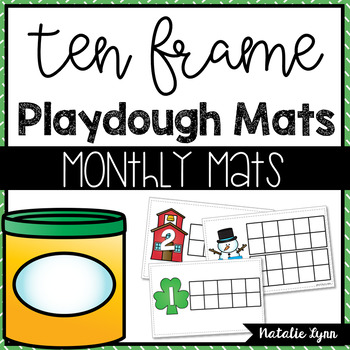 Ten Frame Playdough Mats for Counting 1-20
