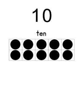 Ten Frame Poster Set - Numbers 0 - 20
