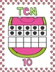Ten Frame Posters (0-20) Watermelon Theme