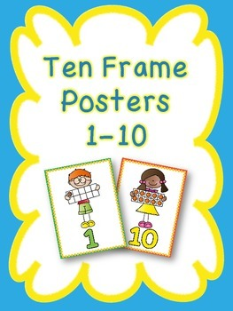 Ten Frame Posters 1-10