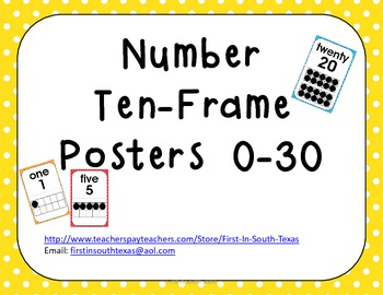 Ten Frame Posters - Colorful