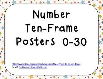 Ten Frame Posters - Small Stars