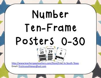 Ten Frame Posters - Stars