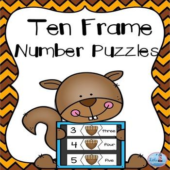 Ten Frame Puzzles (0-20 Fall Theme)