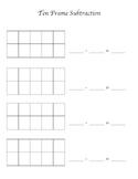 Ten Frame Recording Sheet